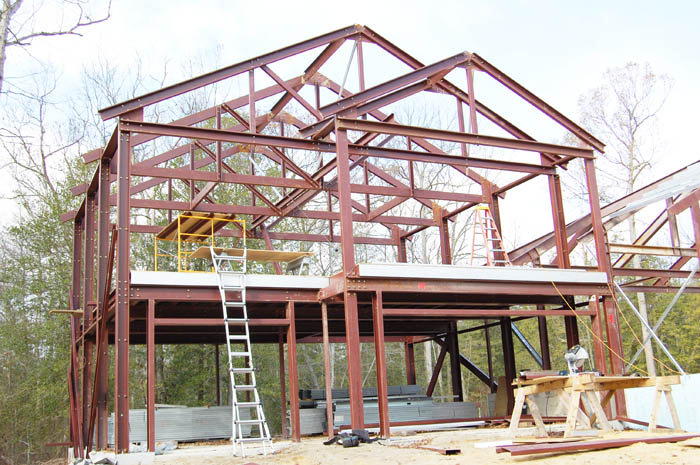 Steel Frame House Construction : Andar steel sample home model frame homes
